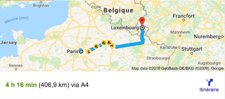 Private Transfer From Paris To Luxembourg With Driver And Car