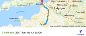 Transfer Paris Calais With Driver and Car