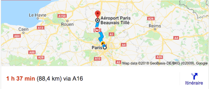 Private Transfer From Beauvais Airport Bva To Paris With